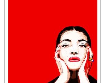 Maria Callas-Pop Art Print