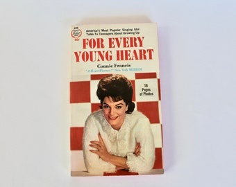 """Vintage 1960's Connie Francis """"For Every Young Heart"""" Advice Paper Back Book!"""