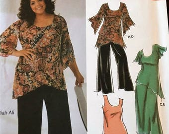Simplicity Pattern #5107 Pullover Top and Elastic waist pant or skirt Size 18w to 24w