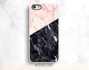 Monogramed iPhone 6S Case,Marble iPhone 6 Case, iPhone 5S, iPhone 5C Case, Personalized iPhone 6 Plus, Black Marble Case, Gold Initials