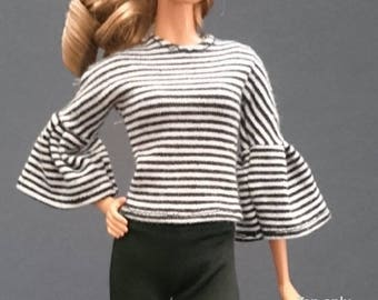 Tops for Barbie,Muse barbie,Tall barbie, FR, Silkstone -No. 0249