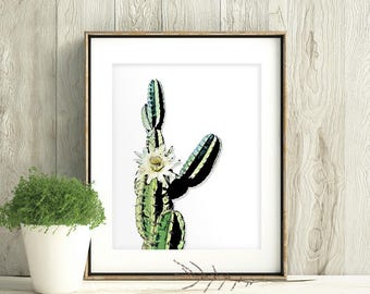 Mandacaru Print, Cereus Jamacaru Print, Cardeiro Print, brazillian cactus, Cactus Print,  Cactus Art, Succulent Print,  Cactus Wall Art,