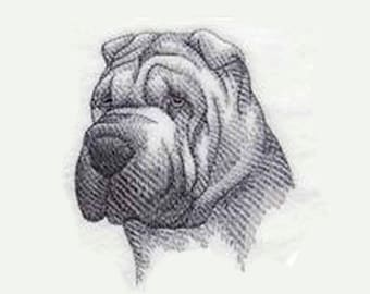 Sharpei Tea Towel   Embroidered Kitchen Towel   Kitchen  Towel   Personalized Kitchen Gifts   Embroidered Towel   Dog Lover Gift   Dog Gifts