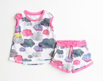 Bundle SPRINKLE Girl Baby Girl Dress, T-shirt and Shorts, Hi-Low Dress, Hi-Low Shirt, Girl shorts, Toddler newborn up to 10 years