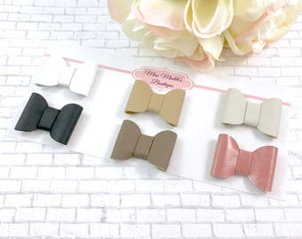 Genuine Leather Hairbows or Headband - single layer