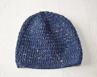 Navy blue wool boy Cap one size