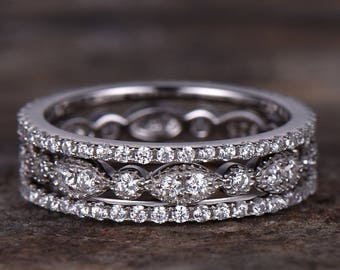 Full eternity wedding ring,925 sterling silver wedding band,rose gold or white gold plated,thin pave or marquise matching band
