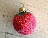 Strawberry Christmas Ornament Glass Ornaments Made in Germany