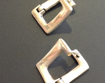 Vintage Sterling silver earrings minimalist constructivist Made in Israel