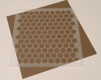 Square 5 inch honeycomb stencil