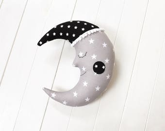 Moon Pillow Moon Cushion Crescent Moon Pillow Nursery Decor Kids Room Decor Decorative Pillow Kids Pillow Baby shower Gift Kids Bedding