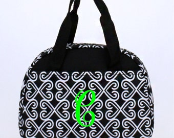 Monogram Lunch Bag Black and White Twist