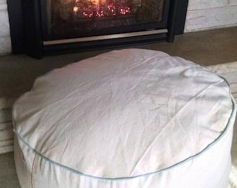 Huge Ottoman, Bean bag chair, floor pillow, guest room Convertible pouf (stuffed)