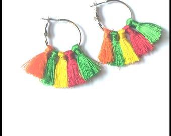 Chunky tassel earring beautiful colorful tassel earring tassel jewelry