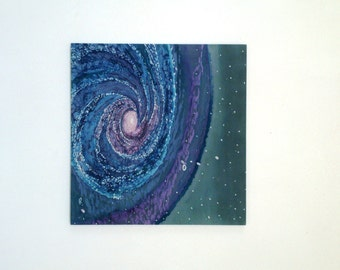 Outer Space Art,Galaxy Painting Art,Purple and Blue,Abstract Art,Galaxy Art,Milky Way,Space Painting Art,Space Wall Art,Home Decor Accent