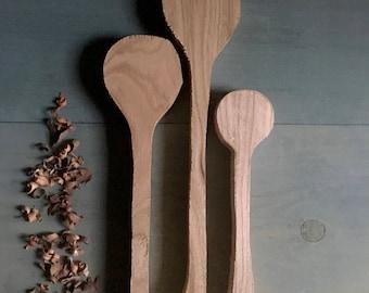 spoon blanks, set of three, various sizes