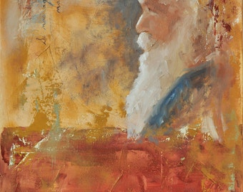 Original Oil Painting - 15 x 30 - Consider the End
