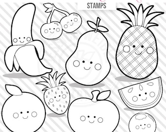 Lucky Babies Cute Digital Line Art Stamps Black and White