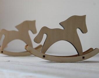 Wood horse/kids room décor