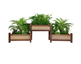 Outdoor Planter Boxes | Stackable | Planter Boxes | Recycled Wood