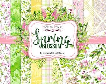 Scrapbooking paper pad 12x12 Spring flowers