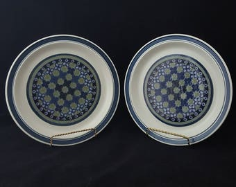Royal Doulton Tangiers Pair of Dinner Plates, Sets of 2 ~ Vintage 1970's