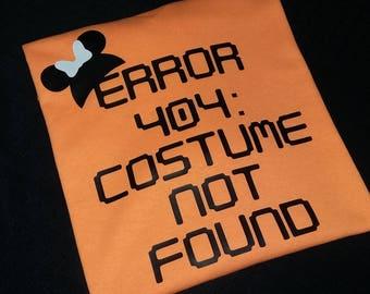Error 404 Halloween Shirt