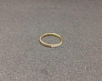 14k Yellow Gold Ring Gold Ring with Diamonds Wedding Ring