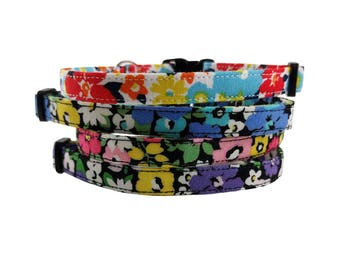 Floral Kitty - Spring/Summer Safety Breakaway Cat or Kitten Collars - Choose from 4 Colors!