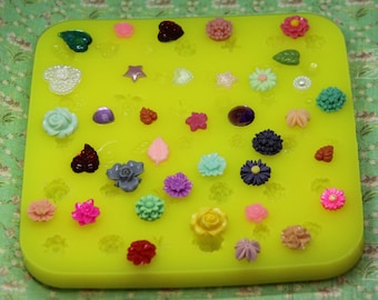 Tiny Flower Mold, Silicone Flower Molds, Daisy Mold, Leaf Mold, Resin Flower Mold, Chocolate Flower Mold, Polymer Clay Flower Mold