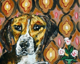 25% off harrier coffee signed art print animals impressionism gift new dog prints 13x19