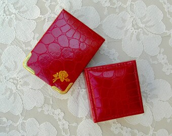 2 Small Chinese Gift/Jewelry/Keepsake Boxes, purchased in China, marsala/burgundy color