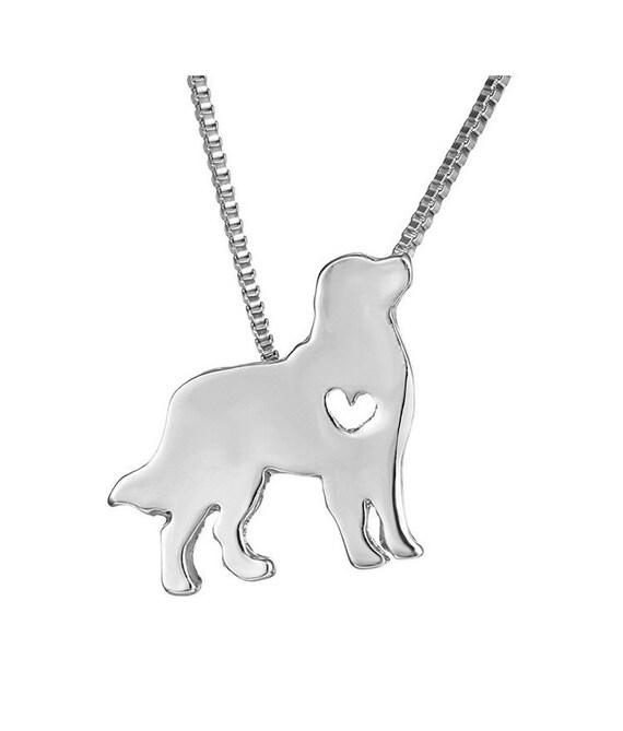 Dog pendant silver chain for dog lovers memorial gift pet te gusta este artculo aloadofball Image collections