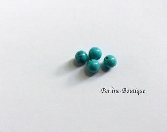 4 Howlite natural pearls 6mm semi-percees