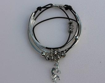 Kokopeli Charm Wrap Bracelet