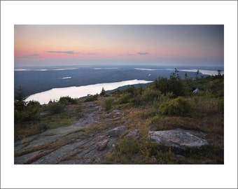 Sunset on Cadillac Mountain - Acadia National Park - Maine - Color Photo Print - Fine Art Photography (LM15)