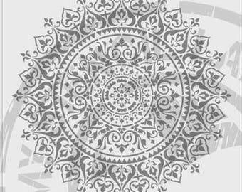 Sun Mandala Stencil #691