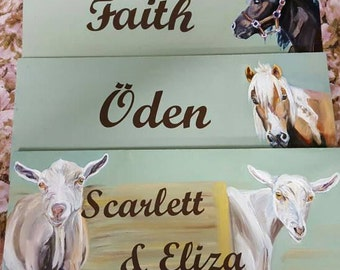 Custom Painted Sign, Painted Horse Sign, Barn Sign, painted Stall Signs, horse art, custom horse painting