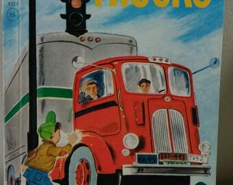 Trucks A Rand McNally Elf Book 1959 Vintage Children's Book (bb1)