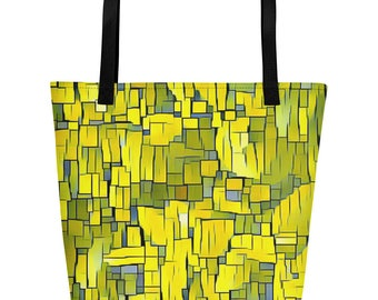 Yellow Grass Beach Bag