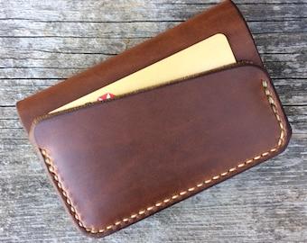 Minimalist wallet, Front pocket wallet, Card wallet, Mens wallet, Men's leather wallet, Handsewn wallet, Mens slim wallet, Thin wallet