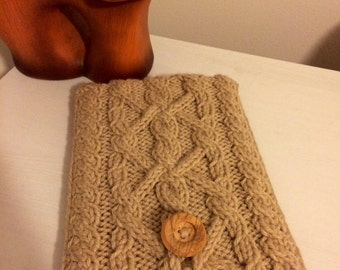SALE READY to ship Hand knitted iPad Mini case, iPad Mini case, beige case for iPad Mini