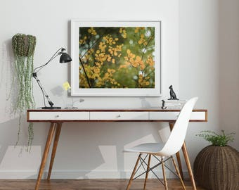 """Nature Photography, Tree Print, Printable Artwork, Fine Art, Digital Download, Printable Art, Nature Print, Modern Art, Gold """"GOLDEN CHARMS"""""""