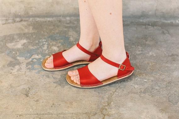 Leather Summer Handmade Women Sandals Summer Sandals Red Sandals Leather Shoes Sandals Sandals wP4xxqIv7