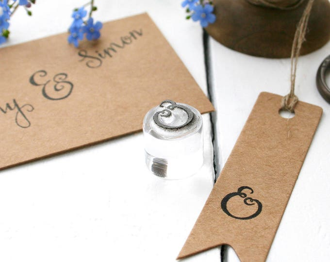Ampersand - Rubber Stamp - Heart Ampersand Stamp - Wedding - Wedding Stationary Stamp - & Stamp - And Text Stamp - Wedding Stationary Stamp
