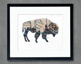 Animals of North America: Bison Art Print