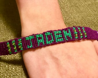 Custom Name Friendship Bracelet with Beads