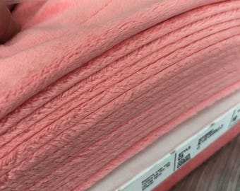 Coral Soft Cuddle Fabric, Shannon Cuddle Fabrics, Minky coral, Plush minky, coral fabric, baby blanket fabric, coral fabric by the yard