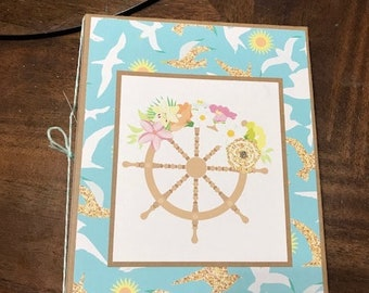 Beach Cruise Themed Mini Scrapbook Album Complete Just Add Pics