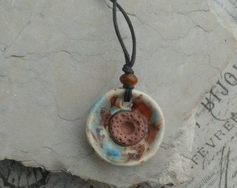 Essential Oil Necklace/ Terracotta Necklace / Essential Oil Necklace/ Personal Diffuser